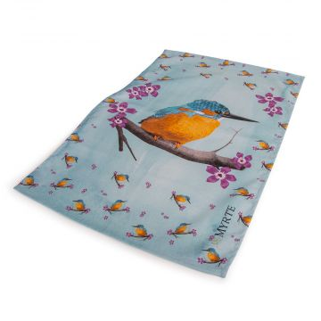 Myrte Kingfisher Tea Towel