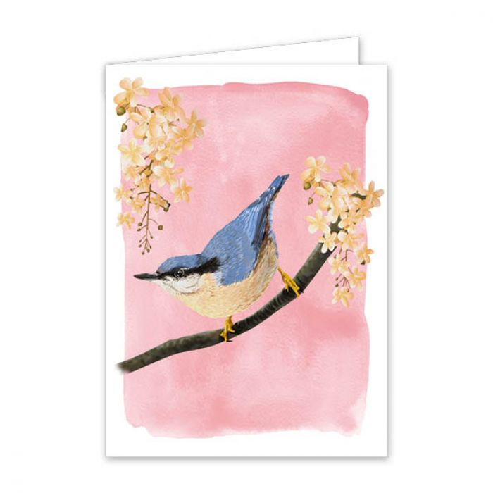Myrte Nuthatch Greeting Card