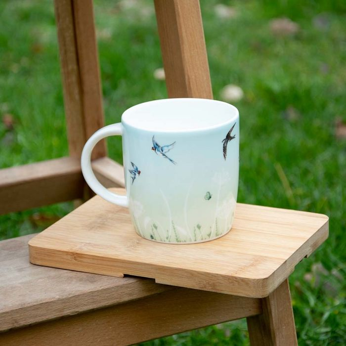 Roy Kirkham Swallow Mug (Green & Blue)