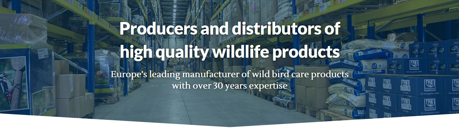 Europe's leading manufacturer of wild bird care products