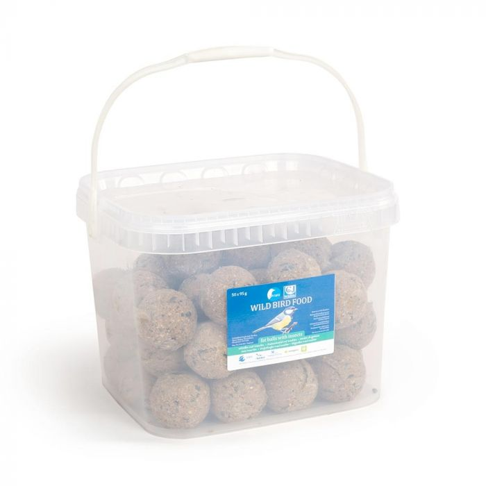 Tub of 50 fat balls with insects