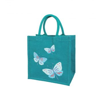 Butterfly Jute Shopping Bag