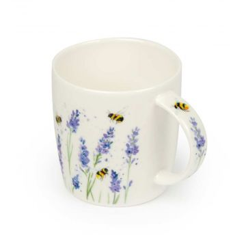 Roy Kirkham Bumblebee and Lavender Mug