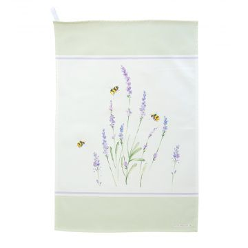 Roy Kirkham Bumblebee and Lavender Tea Towel