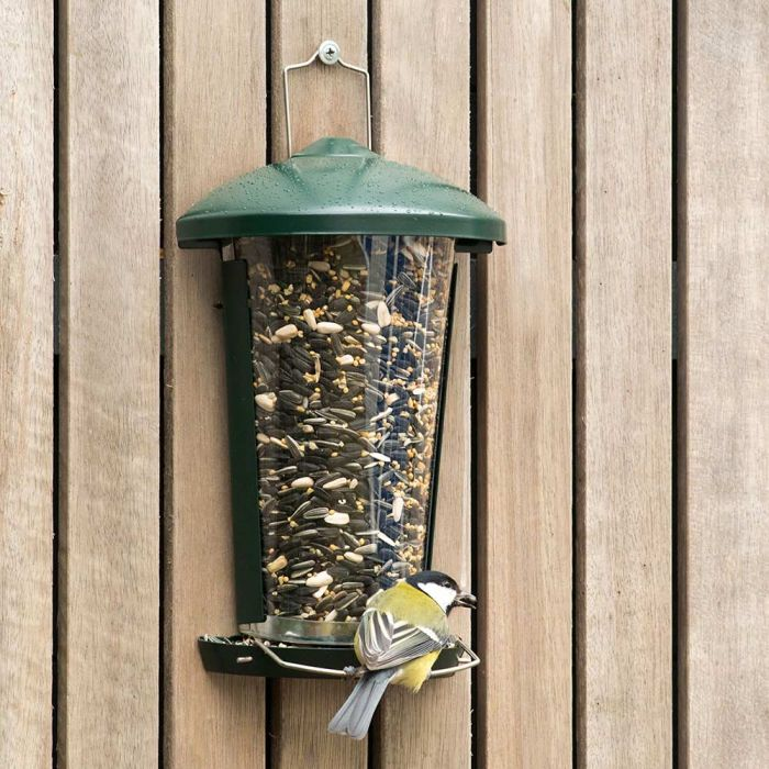 Delta Seed and Mealworm Feeder Green