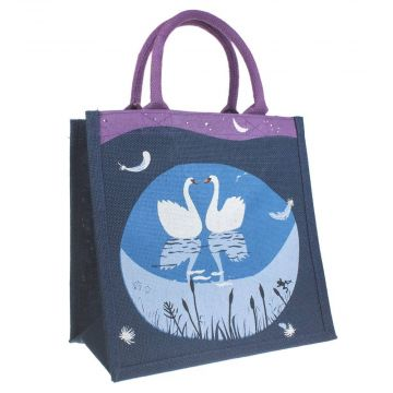 Swans Jute Shopping Bag